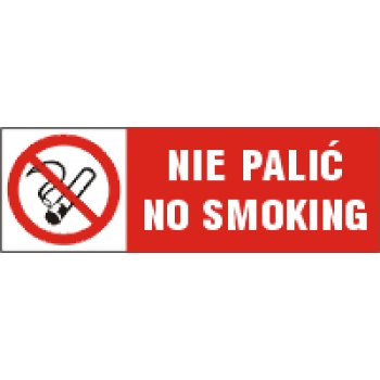 BA003 Nie palić No smoking